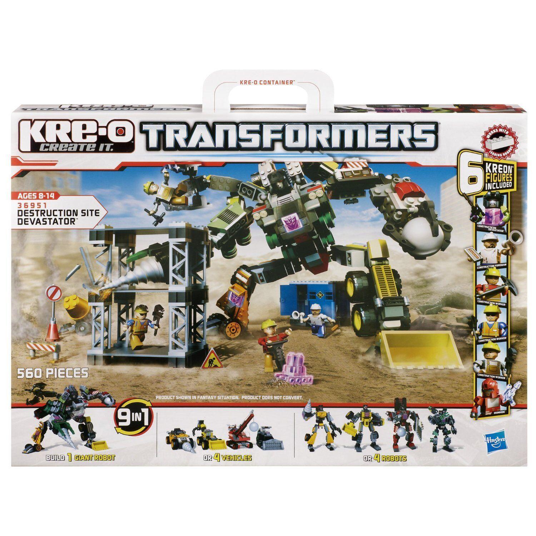 KRE-O TRANSFORMERS 36951 36951 36951 Destruction sito Devastator 9 in 1 Bauset HASBRO 5c7ffa