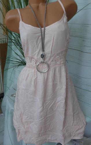 NEU 42-44 mit Häkel Spitze 727 Aniston weich fallendes Kleid Gr