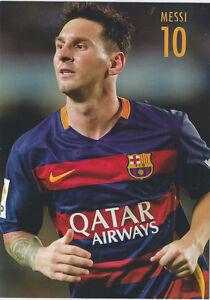 Postal postcard 10 MESSI  jug en Acción  FC BARCELONA 15//16