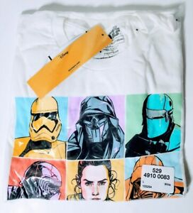 Star-Wars-Disney-Neon-Large-Mens-Rey-Rise-of-Skywalker-Tshirt-New-With-Tags-NWT