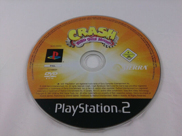 Crash Herrscher der Mutanten Sony PlayStation 2 2008 DVD Box PS2 PAL