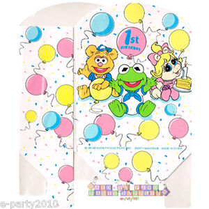 Image Is Loading MUPPET BABIES FAVOR BOXES 8 Vintage 1st Birthday
