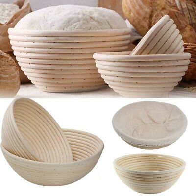 Bread Proofing Baskets Banneton Brotform Dough Rattan Bread Baskets Round 6 Size