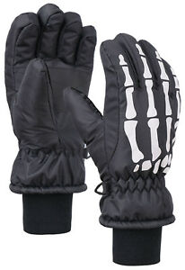 Winter Sports Ski Gloves Kids Girls Boy Waterproof Thinsulate Lined Snow Mittens
