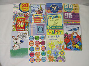 Image Is Loading 14 NEW Happy Birthday Greeting Cards From 20