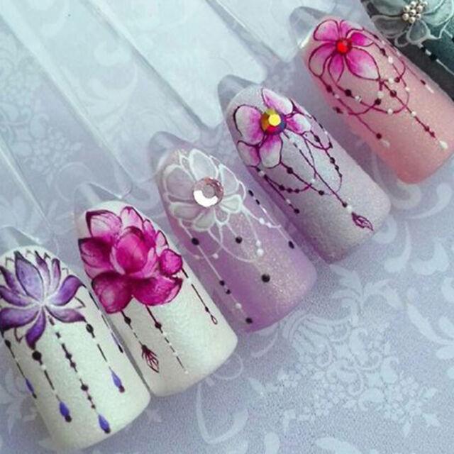 5sheets 3d Nail Art Transfer Sticker Flower Decals Diy Manicure