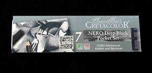 7-Piece-NERO-Drawing-Set-Various-Sticks-NEW-Artist-Quality-Pencils-in-tin