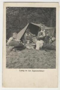 AK Lustig ist das Zigeunerleben!, Zelturlaub, 1935 - Karnabrunn, Österreich - AK Lustig ist das Zigeunerleben!, Zelturlaub, 1935 - Karnabrunn, Österreich