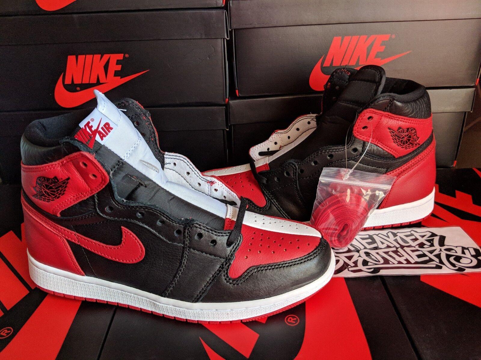 Nike Air Jordan Retro I 1 High OG NRG 2018 Red Homage To Home H2H Red 2018 861428-061 0fda68