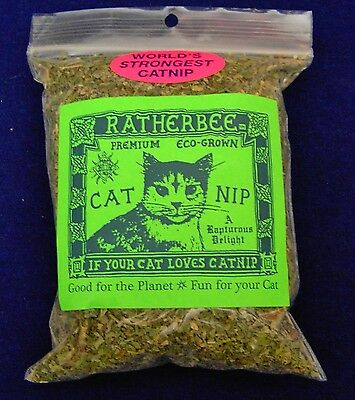 Ratherbee Bulk 1 oz Eco-Grown world's strongest cat nip catnip