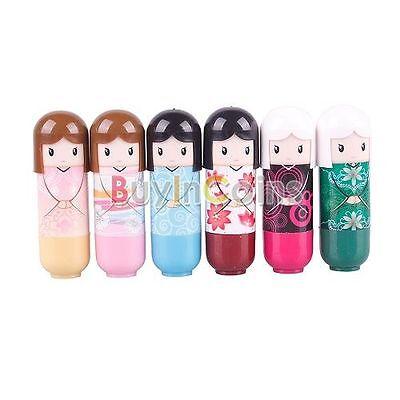 Doll Pattern Travel Portable Lip Balm Lovely Cute Baby Girl Lip Care Lipstick