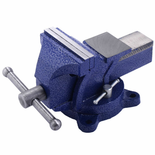 "5/"" Table Bench Top Mechanic Vise Vice Steel Jaw Clamp 360º Swivel Locking Base"