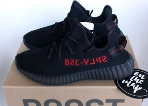 956663c956a46 Adidas Yeezy Boost 350 V2 Black Red Bred CP9652 UK 5 6 7 8 9 11 12 ...
