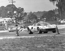 Vintage 8 X 10 1969 Sebring Ford GT40 Winner & Andretti Ferrari 312P