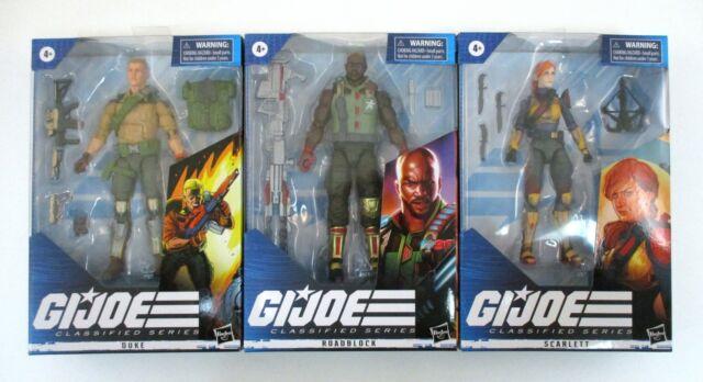 "G.I. Joe Classified DUKE SCARLETT ROADBLOCK 6"" Figure Lot MIB NEW Hasbro 2020"