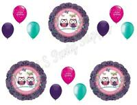 Owl Pal Purple Happy Birthday Party Balloons Decoration Supplies Girl 1st Teen