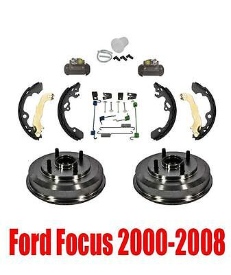 Rear Drums Wheel Bearings Brake Shoes and Hardware for Ford Focus 00-08