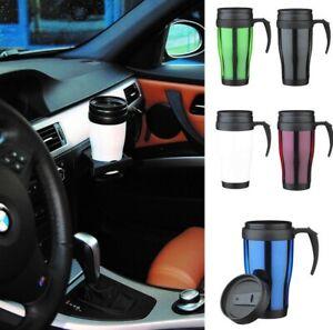 380ml Stainless Steel Thermal Vacuum Mug Flask Hot Drinks Tea Coffee Travel Cup