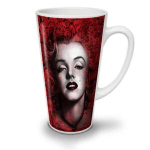 Marilyn Deep Red Lips NEW White Tea Coffee Latte Mug 12 17 oz | Wellcoda