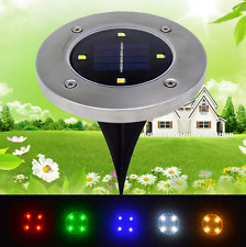 Waterproof Solar Power 4 LED Lights Road Driveway Pathway Dock Path Ground Step