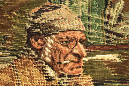 """30/"""" X 23/"""" The Professor Wall Hanger Canvas Tramme Preworked Needlepoint Tapestry"""