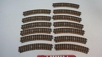 Qualificato An129-1# 13x Märklin H0/00/ac Pezzo Di Binario Curvo M-binario 3600/800-mostra Il Titolo Originale