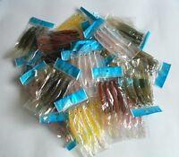 400 Soft Plastic Fish Worm Fishing Lures Bait 4.75 Wholesale Lots Lure