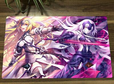 YuGiOh//VG//MTG Fate//Grand Order Jeanne d/'Arc Playmat TCG Mat Free best Tube 【New】