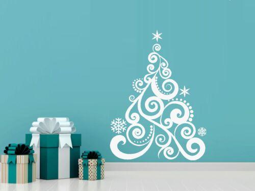 "Custom Name CHRISTMAS TREE: Wall or Window decal 20/"" x 27/"""