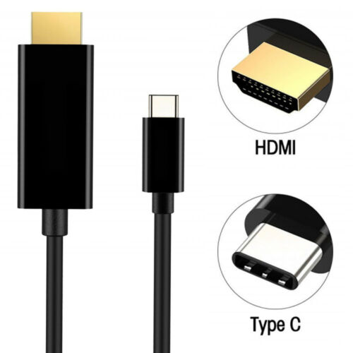 High quality 6FT 4k USB 3.1 USB-C /&Thunderbolt to HDMI Cable For Macbook Pro US