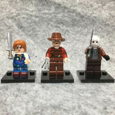 3pcs Horror Movie Mini DIY Action Figure Toy A1