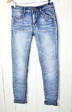 KY Dress Jeans Hose Mit Nieten HIPPIE BOHO Gr XL  Stretch Vintage