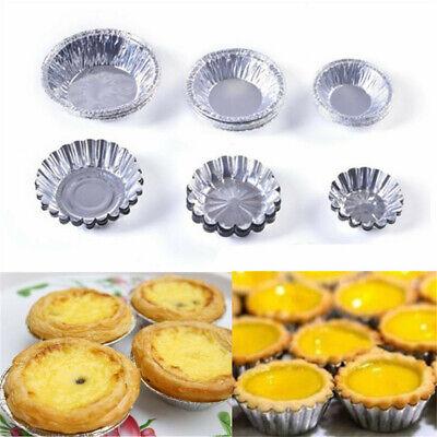 10pcs Mini Egg Tart Molds Cupcake Cake Cookie Muffin Baking Mold Non-Stick Cups
