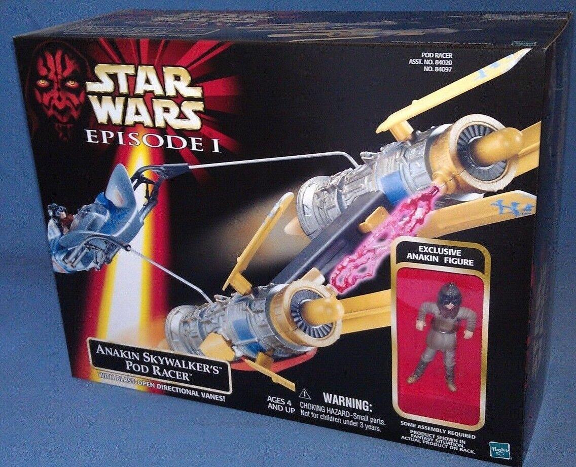 Star Wars Episode I Anakin & Sebulba Pod Racers set w  figures, Hasbro, sealed
