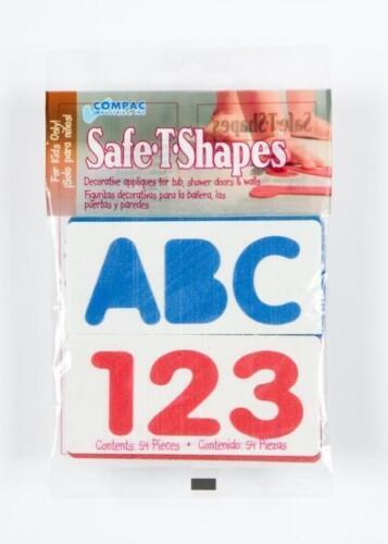 Non-Slip ABC 123 Bath Tub Shower Appliques Safe-T Shapes