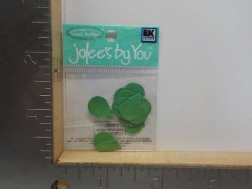 JOLEE/'S BY YOU BRIGHT GREEN TEARDROP LEAF LEAVES EMBELLISHMENTS NEW NIP A8571