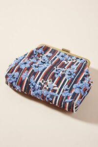 Glam New Embellecido Crossbody Con Patchwork Cuentas Bolso Anthropologie Embrague Zwr7Zq