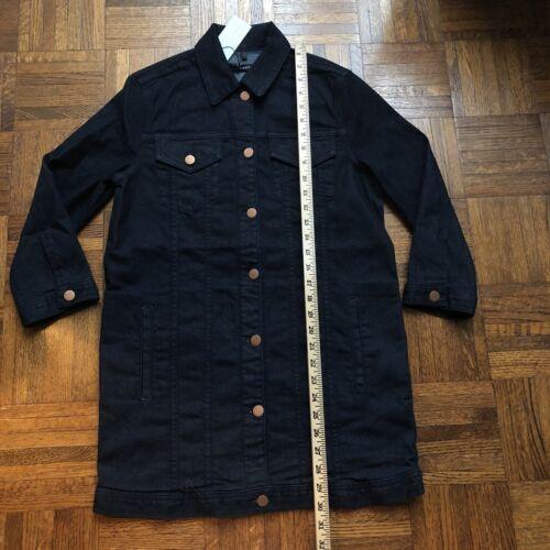 $278 NWT J Brand Small MAXI Denim JACKET in SEDUCTIVE Dark Blue Wash 3//4 sleeve