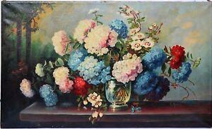 Blumen Gemälde In öl : gro es gem lde l leinwand sign e adam 1900 1920 ~ A.2002-acura-tl-radio.info Haus und Dekorationen