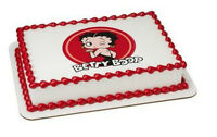 Betty Boop Image Cake Topper Frosting Sheet Icing Personalized 58191