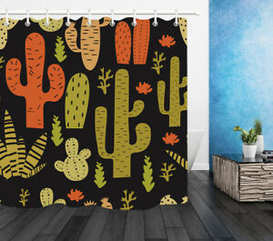 Image Is Loading Mexican Style Cactus Shower Curtain Liner Polyester Fabric