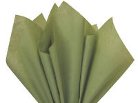 Olive Green Tissue Paper For Gift Wrapping 15x20 Sheets Eco-friendly