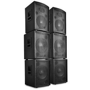 dj pa anlage aktiv lautsprecher subwoofer bass boxen set. Black Bedroom Furniture Sets. Home Design Ideas