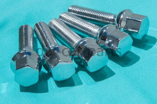 Set of 5 Chrome Mercedes Lug Bolts Nuts C280 C350 CLK500 SLK350 SL500 C55 AMG