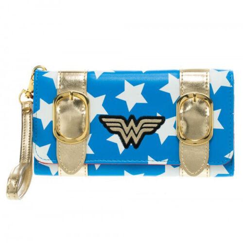 WONDER WOMAN Satchel Fold Wallet Clutch Womens Girls New Authentic DC Comics