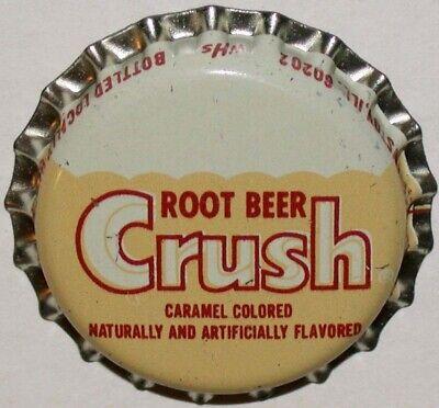 Vintage soda pop bottle cap CRUSH ROOT BEER unused new old stock excellent cond