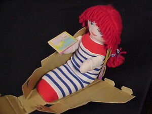 RARE LITTLE LOST SOCK KATHERINE 1990 WORLDS OF WONDER WITH STORY TAG