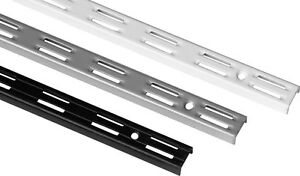Wandschiene-RASTER-50-mm-2-reihig-Groesse-Farbe-waehlbar-Regalsystem