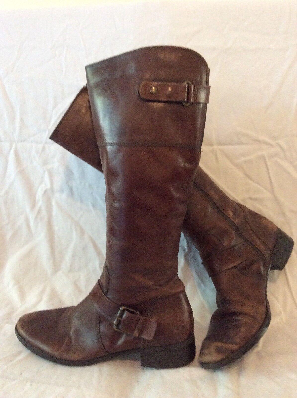 Jones Bootmaker Brown Knee High Leather Boots Size 40