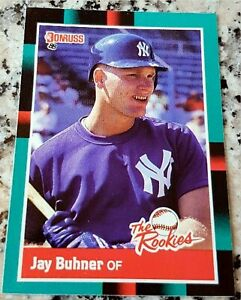 JAY-BUHNER-1988-Donruss-Rookie-Card-RC-New-York-Yankees-Seattle-Mariners-310-HRs